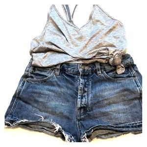 Free People Button Fly Cutoffs